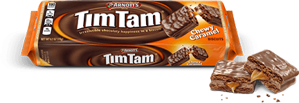 Tim Tam Chewy Caramel flavor packaged bar